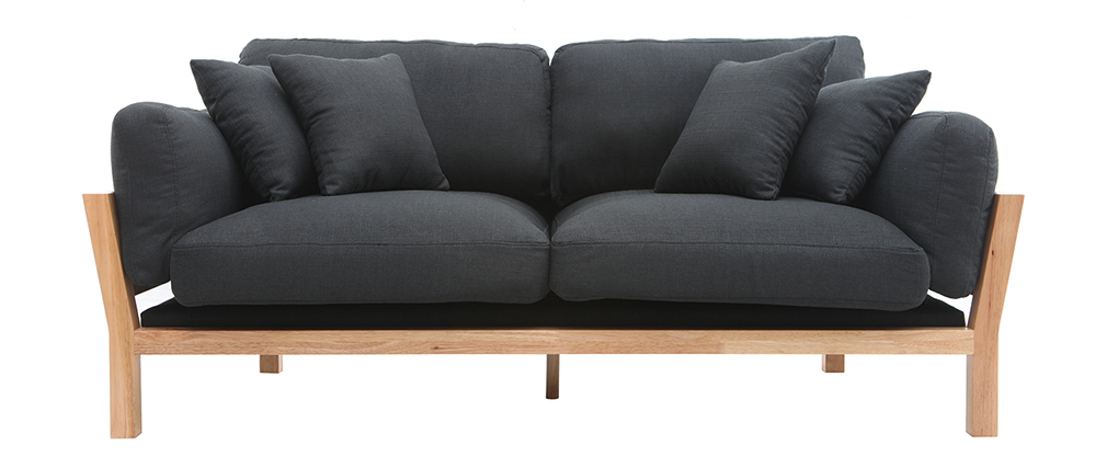 Sofá 3 plazas desenfundable gris antracita KYO