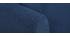 Sofá 3 plazas en tejido azul oscuro con almacenaje MEDLEY
