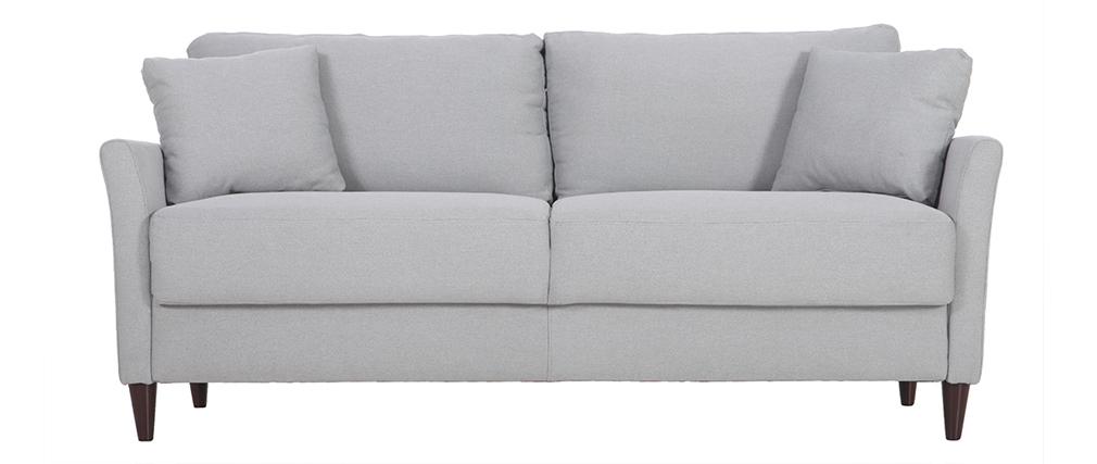 Sofá 3 plazas en tejido gris claro con almacenaje MEDLEY