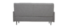 Sofá 3 plazas en tejido gris claro HIBA
