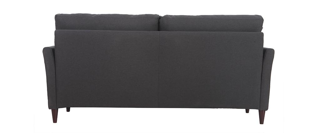 Sofá 3 plazas en tejido gris oscuro con almacenaje MEDLEY