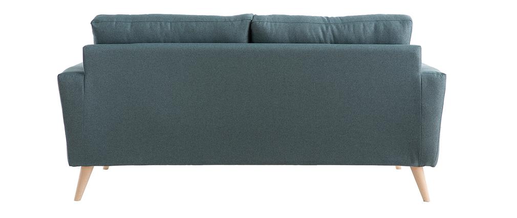 Sofá 3 plazas nórdico verde grisáceo BEAUBOURG