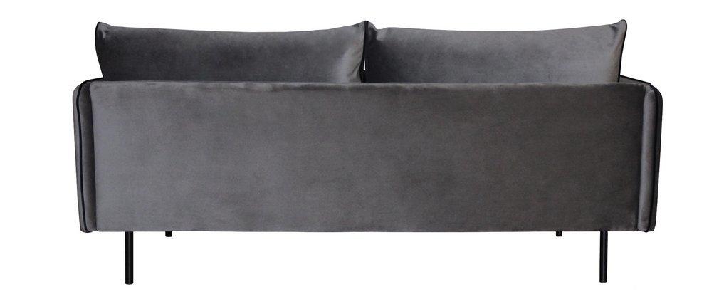 Sofá 3 plazas terciopelo gris PIGALE