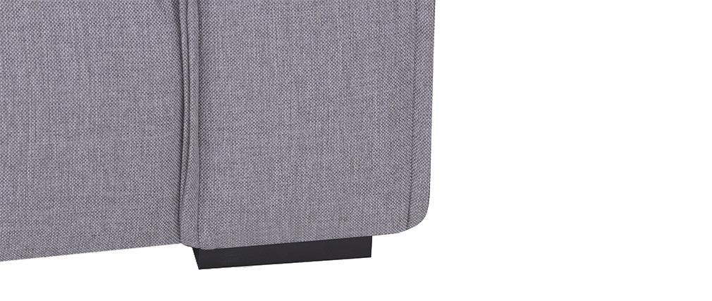 Sofá 4 plazas moderno tejido gris claro MELLOW