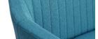 Sofá/ banqueta escandinavo 2 plazas azul petróleo ALEYNA