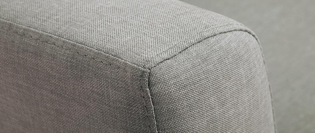 Sofá cama 2 plazas en tejido gris claro LEON