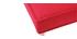 Sofá cama 3 plazas en tejido rojo y madera SHANTI