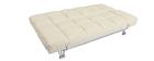 Sofá cama de piel 3 plazas color beige MANHATTAN