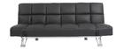 Sofá cama de piel 3 plazas color negro MANHATTAN