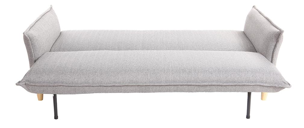 Sofá cama estilo nórdico tejido gris claro WEEKEND