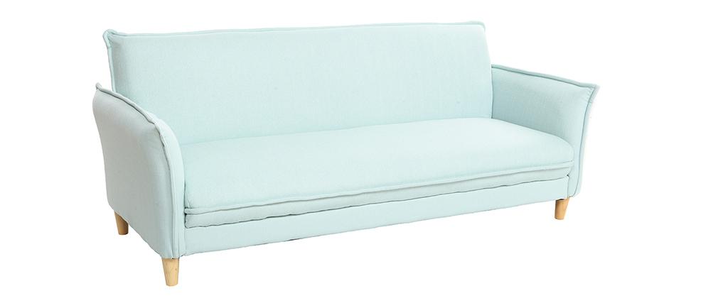 Sofá cama estilo nórdico tejido verde agua WEEKEND