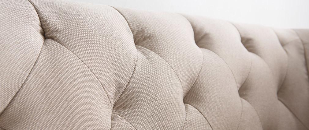 Sofá clásico tejido color natural 2 plazas MONTAIGNE