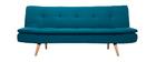 Sofá convertible 3 plazas azul petróleo SENSO