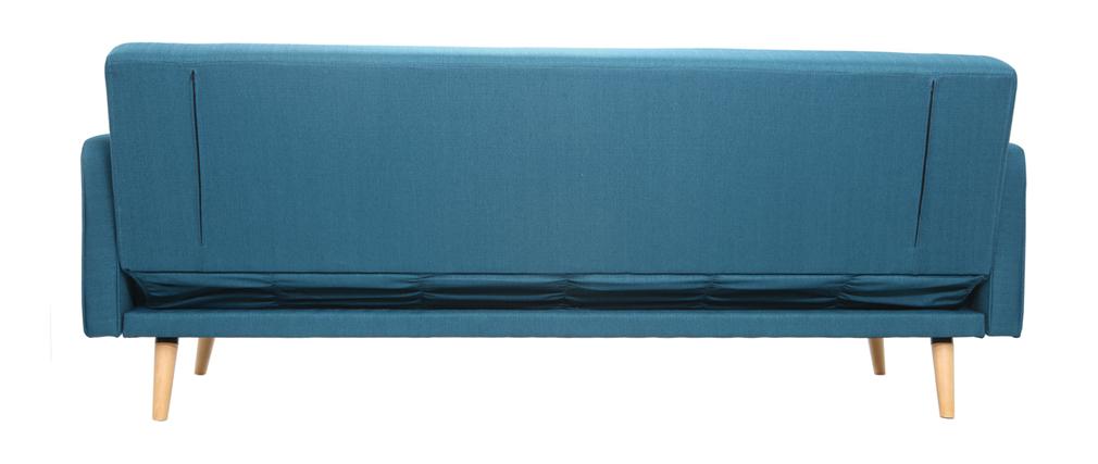Sofá convertible 3 plazas diseño escandinavo azul ULLA