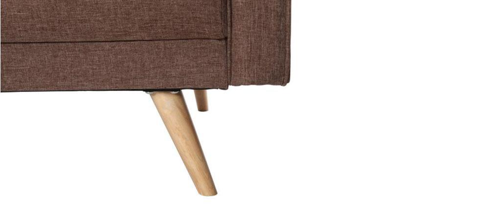 Sofá convertible 3 plazas diseño escandinavo camel ULLA