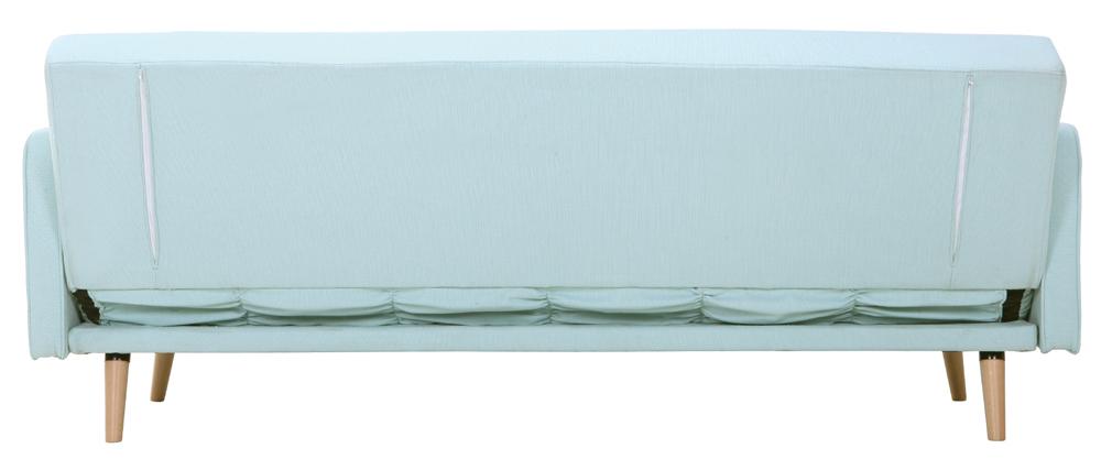 Sofá convertible 3 plazas diseño escandinavo verde agua ULLA