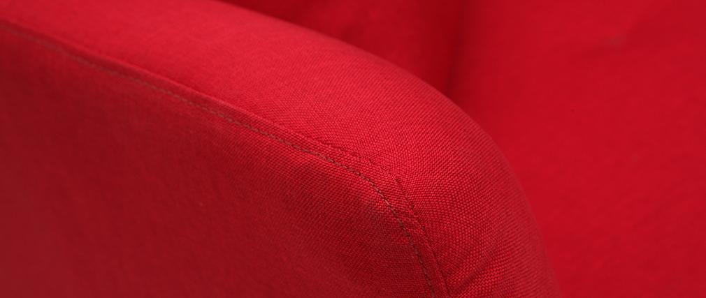 Sofá convertible 3 plazas en tejido rojo ELIN