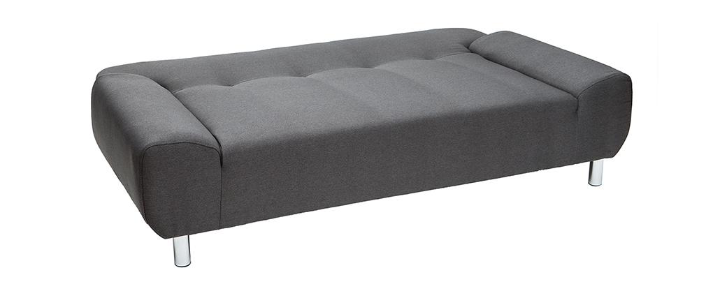Sofá convertible de diseño gris antracita TULSA