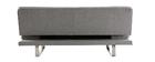 Sofá convertible de diseño gris ATLANTA
