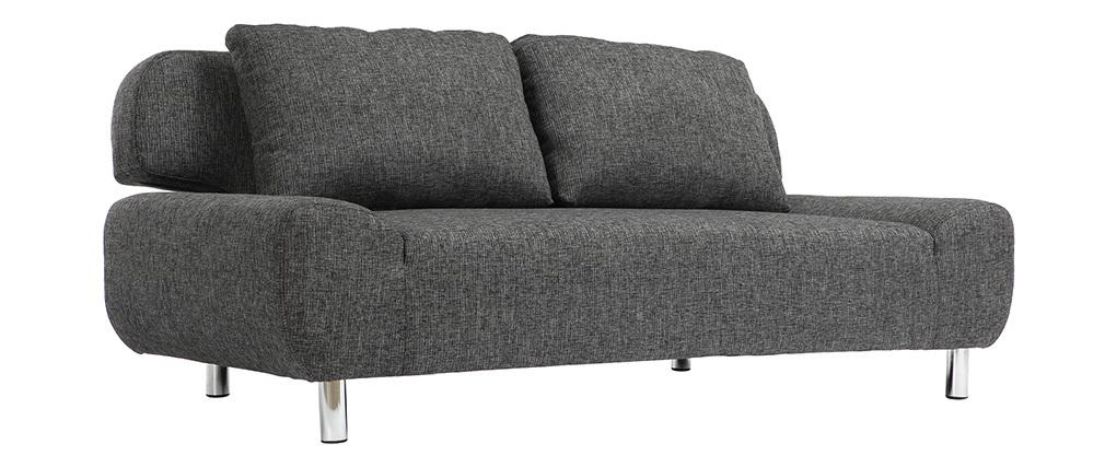 Sofá convertible de diseño gris carbón TULSA