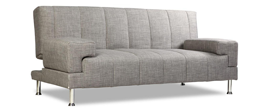 Sofá  convertible de diseño gris DENVER