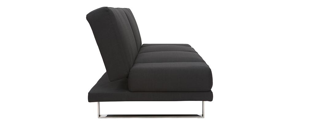 Sofá convertible de diseño negro ATLANTA
