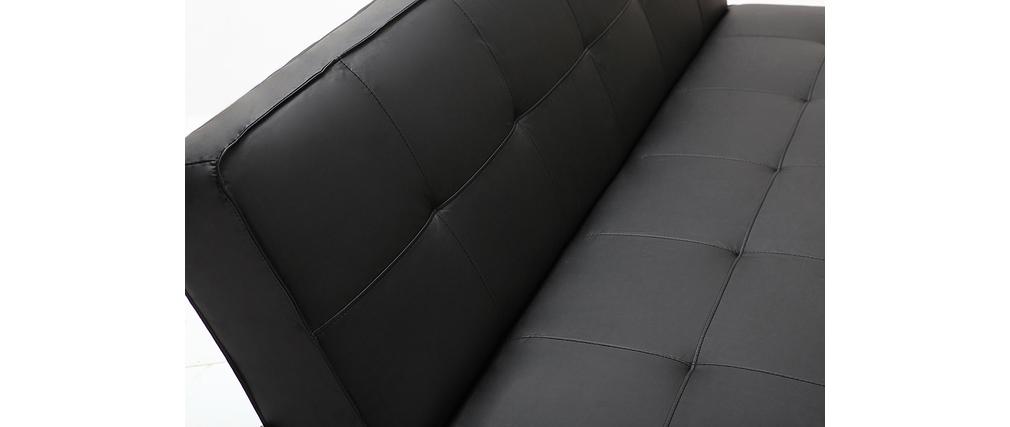 Sofá convertible de diseño negro CHARLESTON