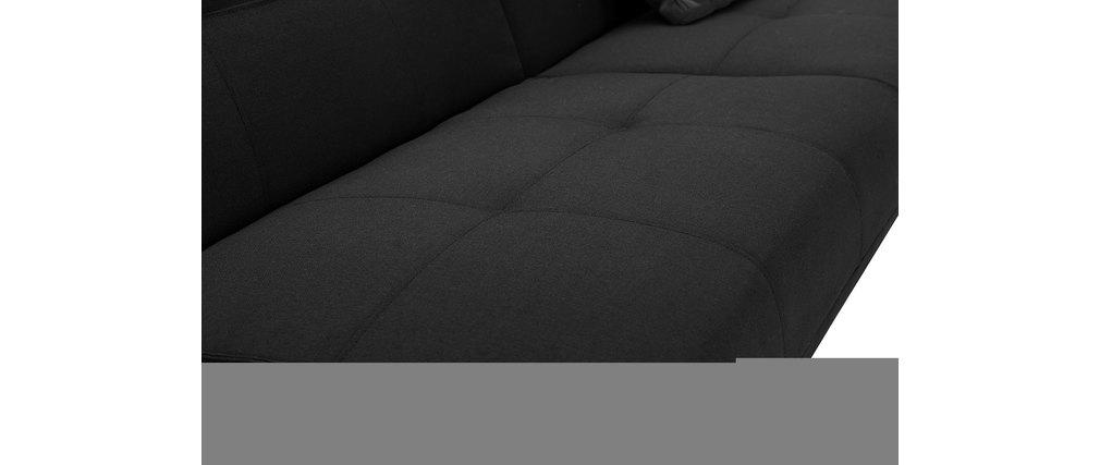 Sofá convertible de diseño negro HUDSON