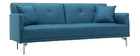 Sofá convertible diseño 3 plazas azul petróleo ELIN