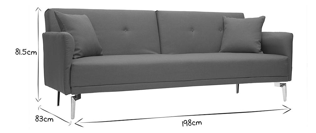 Sofá convertible diseño 3 plazas gris ELIN