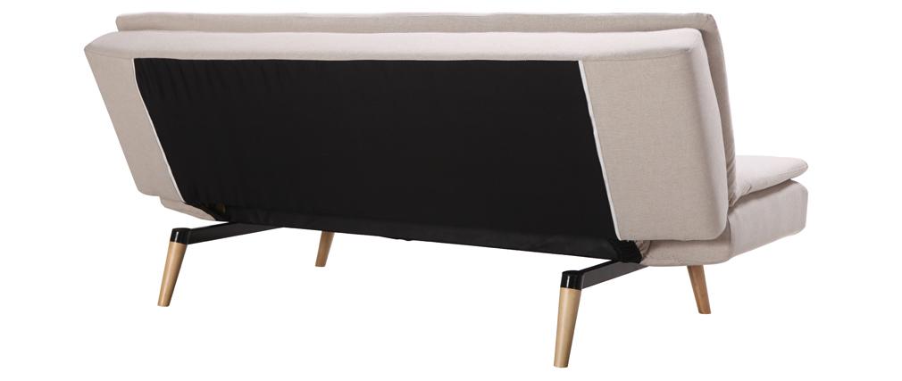 Sofá convertible diseño escandinavo 3 plazas blanco SENSO