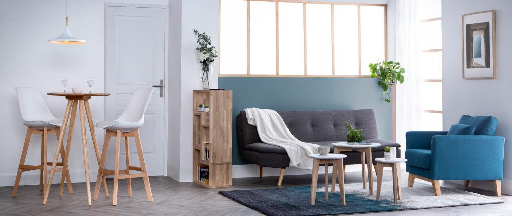Sofá convertible diseño escandinavo 3 plazas gris oscuro SENSO