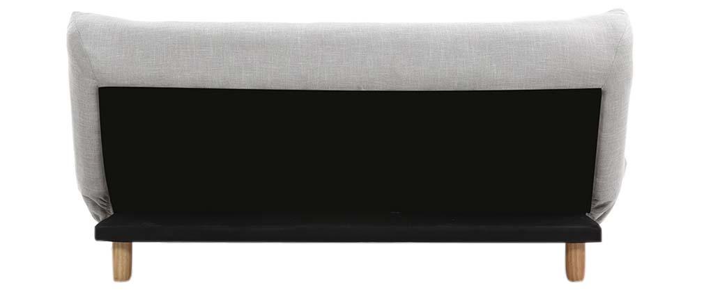 Sofá convertible diseño escandinavo gris y roble YUMI