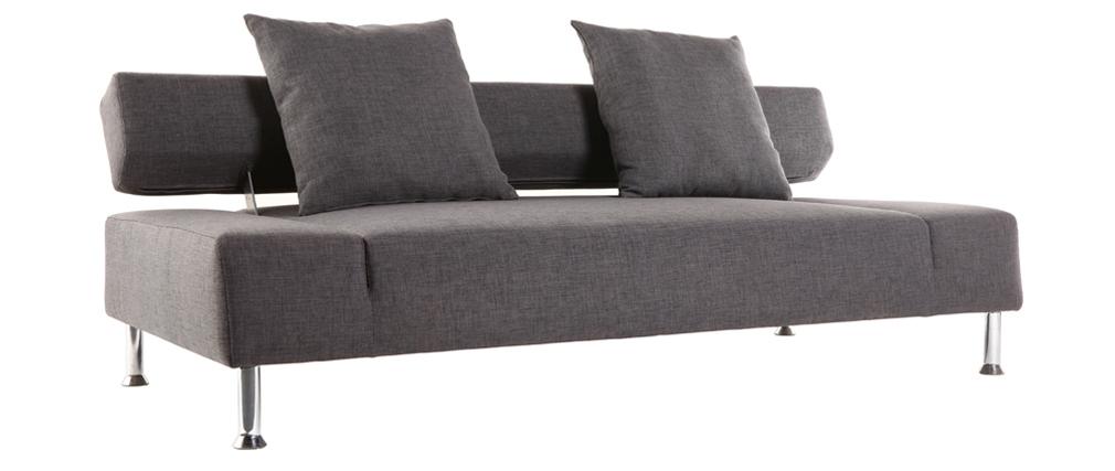 Sofá convertible diseño gris 3 plazas MILANO
