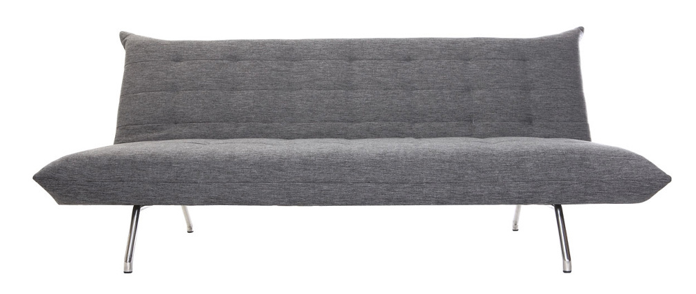 Sofá convertible diseño gris oscuro OVE