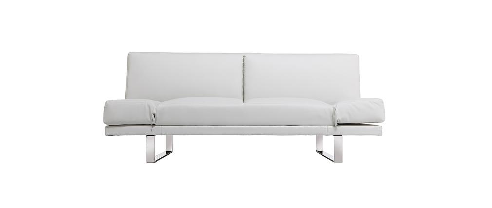 Sofá convertible diseño PU blanco ATLANTA