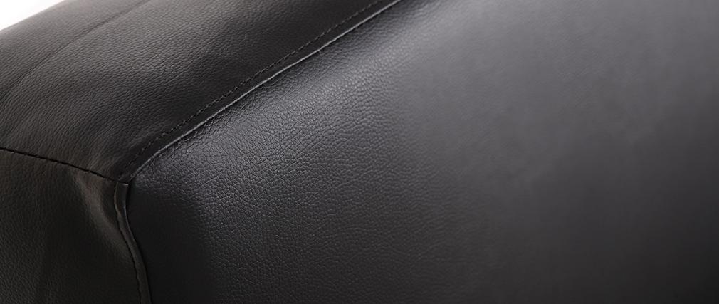 Sofá convertible diseño PU negro ATLANTA