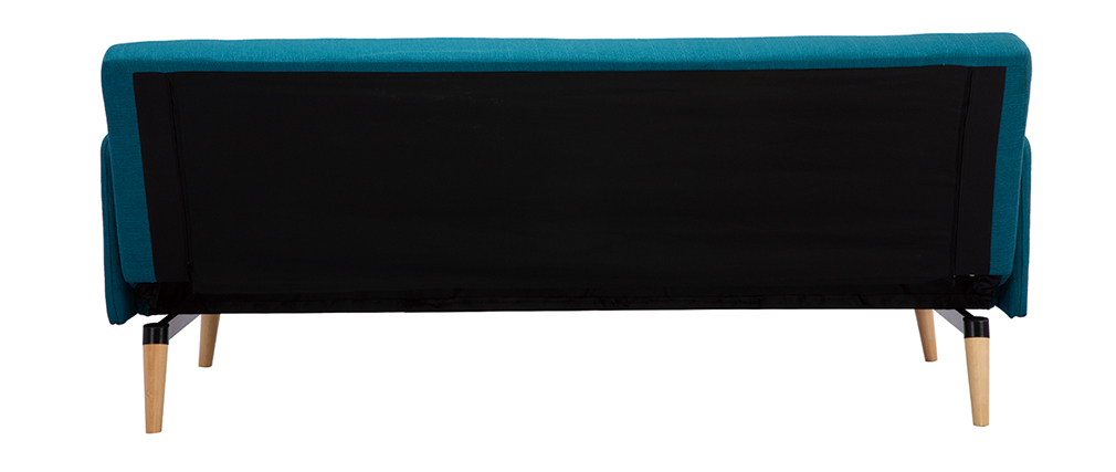 Sofá convertible nórdico 3 plazas azul petróleo LULA