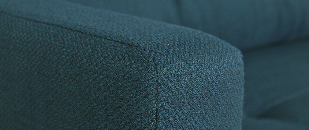Sofá convertible nórdico 3 plazas con cofre azul oscuro MIRA