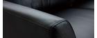 Sofá cuero 3 plazas negro JOPLIN - cuero de búfalo