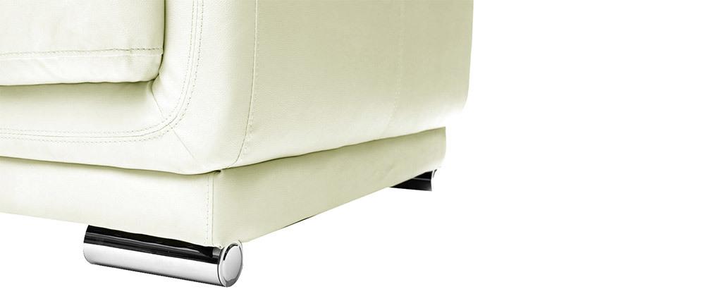 Sofá cuero de vaca diseño blanco 2 plazas TAMARA