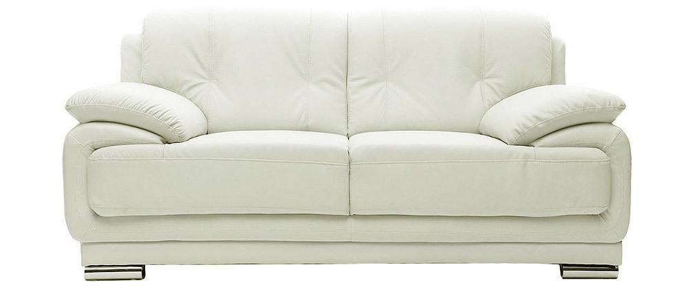 Sofá cuero diseño blanco 2 plazas TAMARA