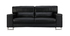 Sofá cuero diseño negro tres plazas cabeceros relax negro ARIZONA