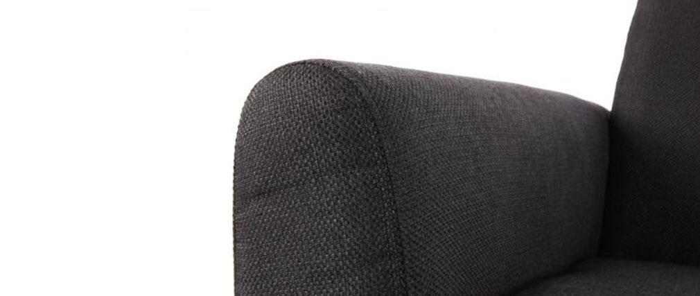 Sofá de diseño 2 plazas negro PURE