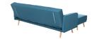 Sofá de esquina convertible escandinavo azul ULLA