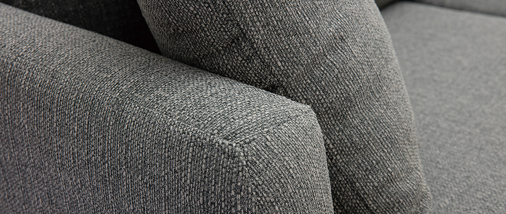 Sofá de esquina derecha nórdico gris claro CODDY