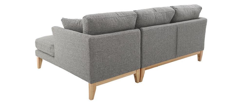 Sofa de esquina derecha nórdico gris claro OSLO