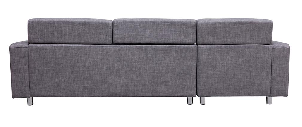 Sofá de esquina diseño gris (esquina izquierda) PORTLAND
