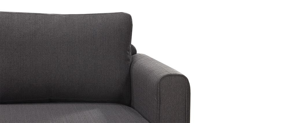 Sofá de esquina izquierda escandinavo gris antracita HALDEN