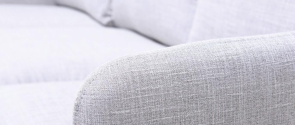 Sofá de esquina reversible diseño 3 plazas gris azulado BART